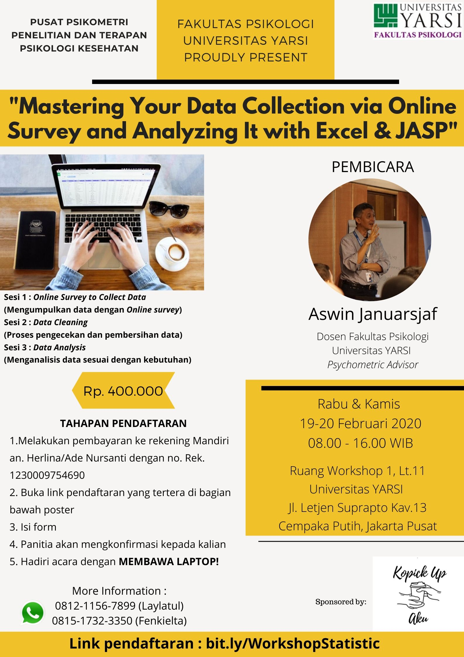 MASTERING YOUR DATA COLLECTION VIA ONLINE SURVEY DAN ANALYZING IT WITH EXCEL AND JASP