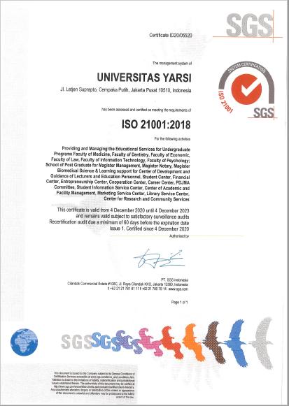 Sertifikat ISO 21001-2018